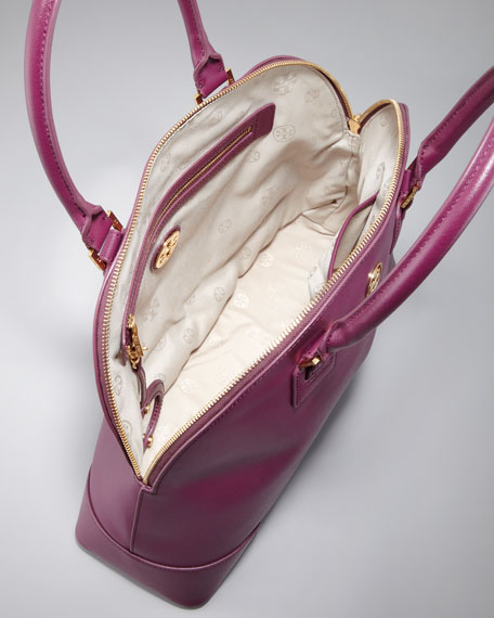Robinson Dome Satchel Bag, Pretty Violet