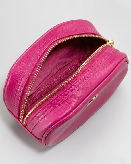 Robinson Small Saffiano Cosmetic Case, Magenta
