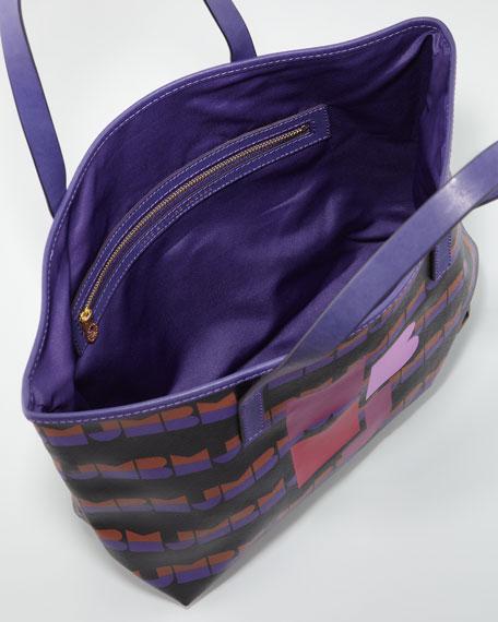 Eazy Small Tote Bag, Dark Ultra Violet