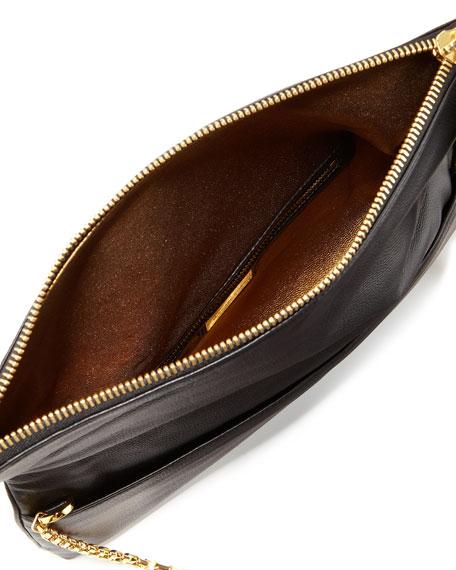 Tonne Fold-Over Clutch Bag, Black