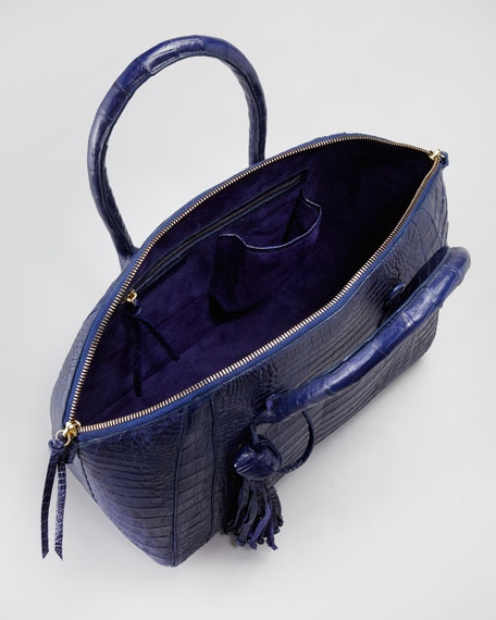 Tasseled Medium Duffel Tote Bag