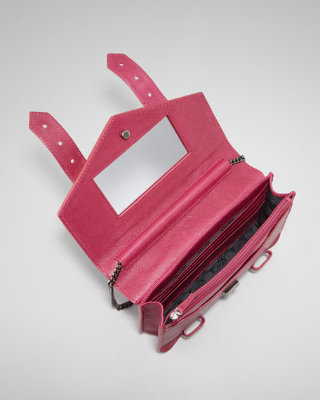 PS1 Large Chain Wallet, Raspberry