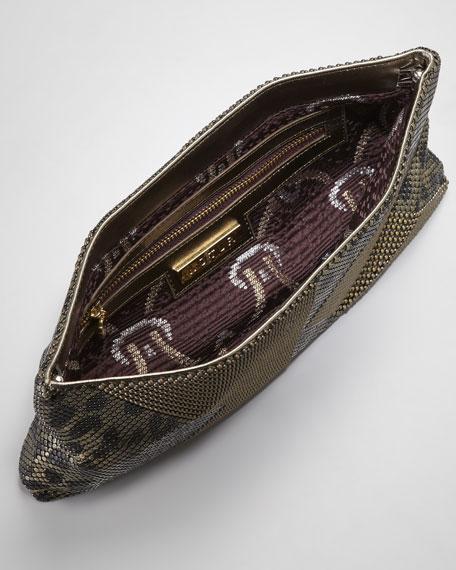 Chain-Maille Metallic Clutch Bag