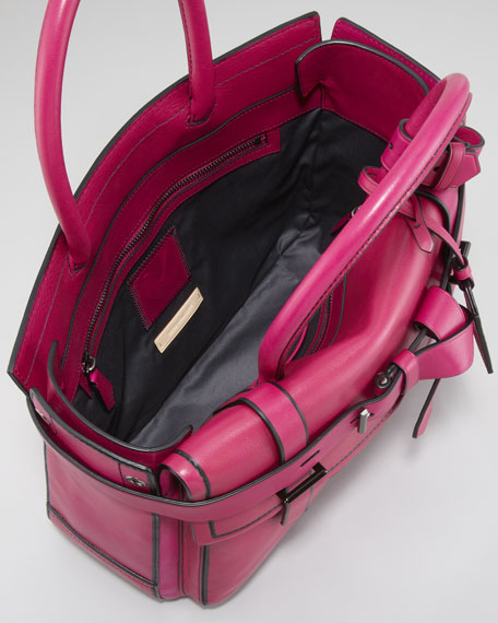 Boxer Tote Bag, Fuchsia