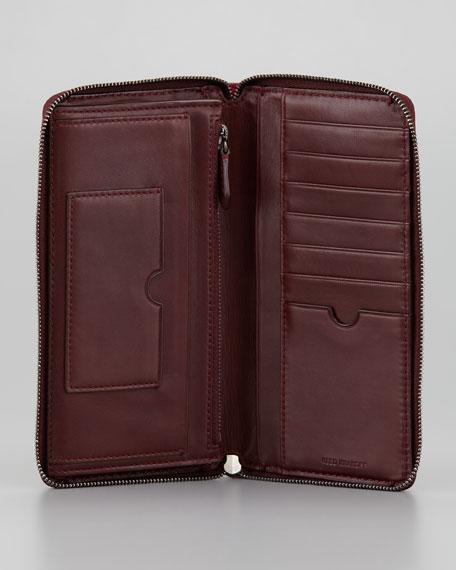 Large Colorblock Zip-Around Wallet