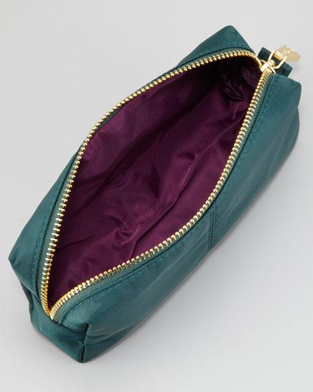 Nylon Cosmetic Case, Emerald