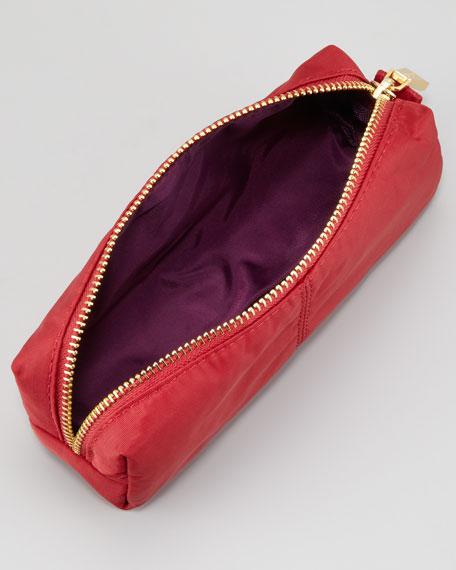 Nylon Cosmetic Case, Red