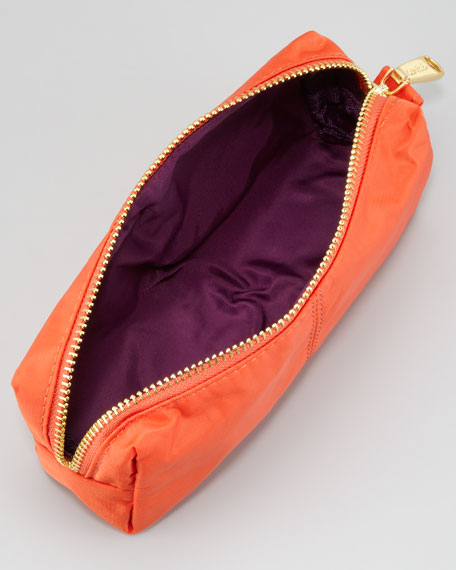Nylon Cosmetic Case, Orange