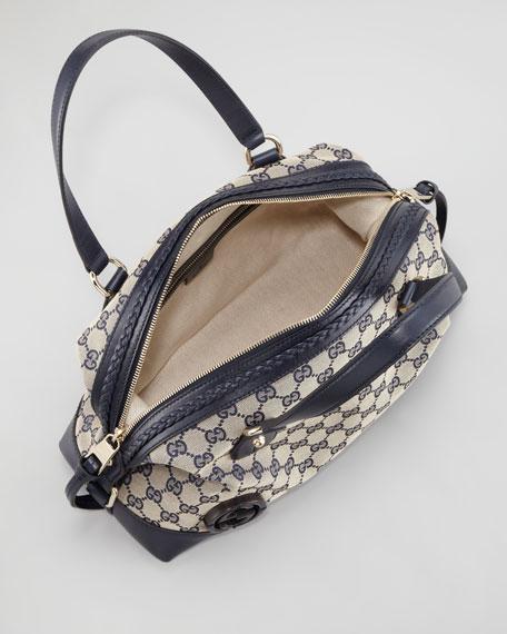 Double Dome Zip-Top Bag, Navy/Blue