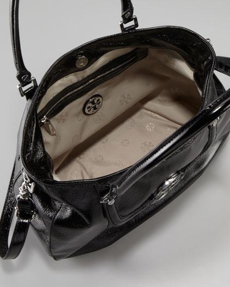 Amanda Patent Classic Hobo Bag, Black