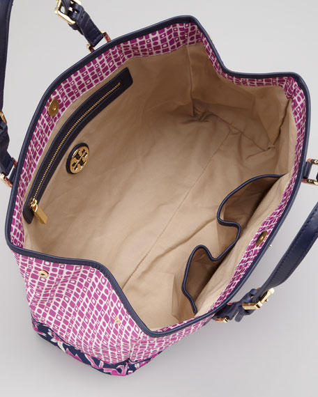 Ella Logo Mini Tote Bag, Raspberry Multi