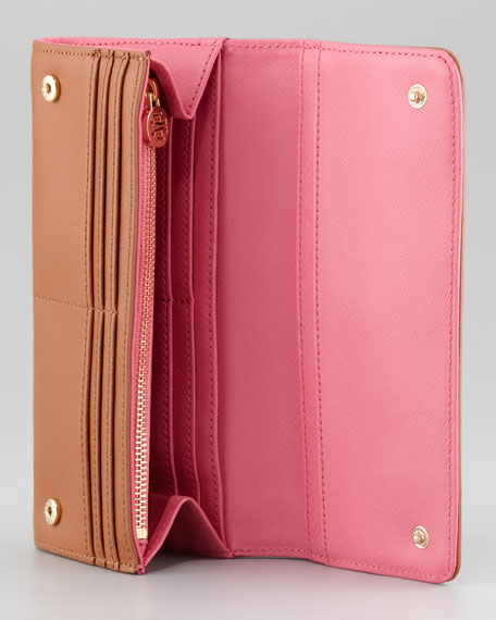 Robinson Envelope Continental Wallet, Luggage/French Rose