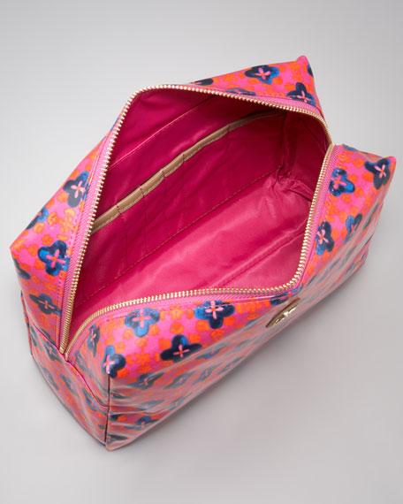 Brigitte Large Cosmetic Bag, Party Fuchsia