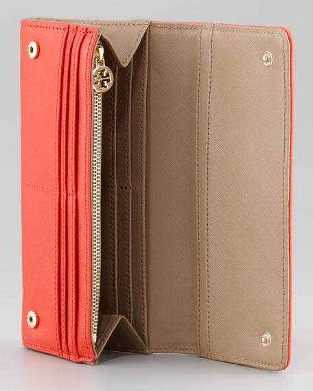 Robinson Envelope Continental Wallet, Red/Beige