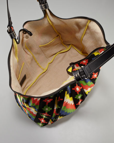 Playa Caribe Jute Shopper Bag, Black