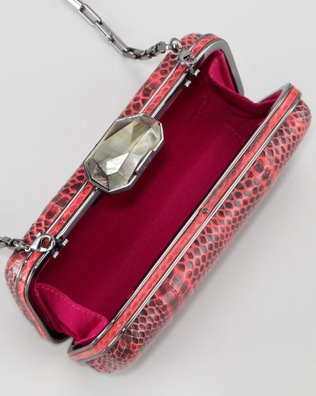 Demi Watersnake Minaudiere, Watermelon