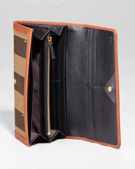 Pequin Flap Organizer Continental Wallet