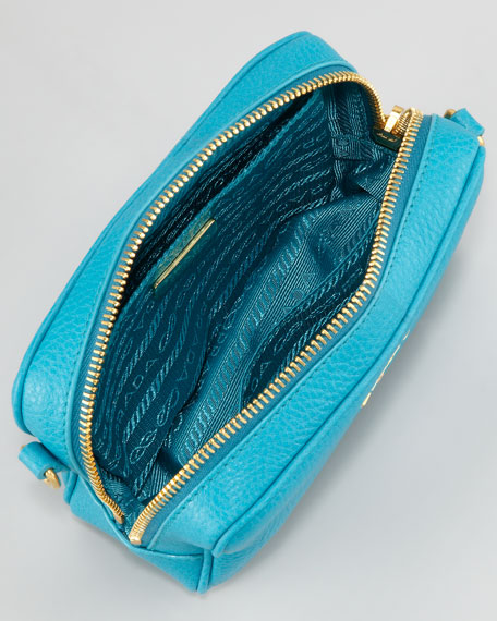 Mini Zip Crossbody Bag, Turquoise
