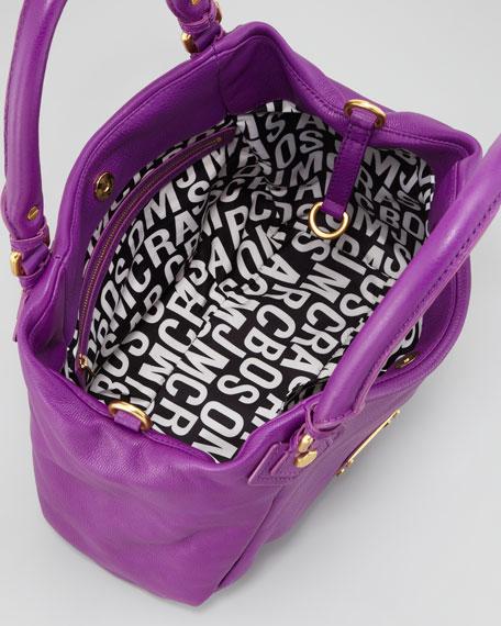 Classic Q Francesca Calfskin Tote Bag, Violet