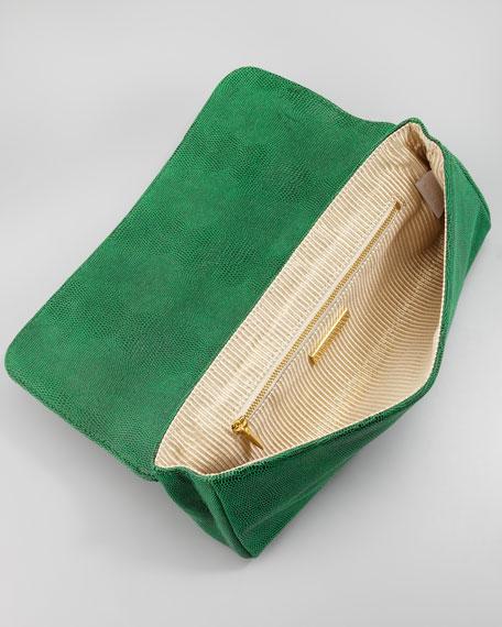 Caroline Lizard Clutch Bag, Kelly