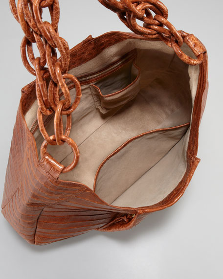 Large Crocodile Hobo, Cognac