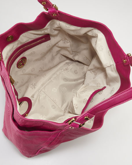 Louisa Slouchy Tote Bag, Royal Fuchsia