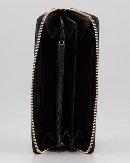 Belle De Jour Zip Wallet, Black