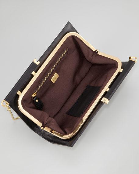 Olivia Patchwork Snakeskin Clutch Bag