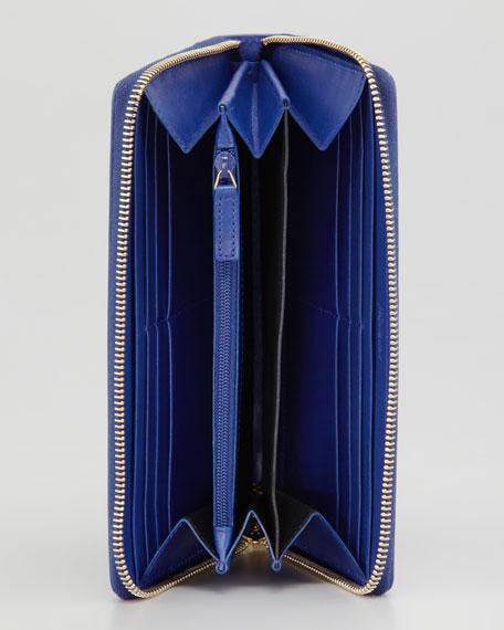 Belle De Jour Zip Wallet, Blue