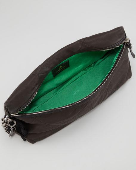 Amalia Quilted Clutch Bag, Black