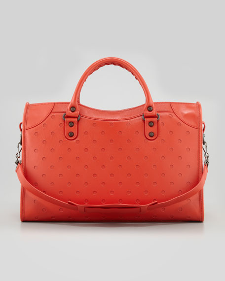 Dots City Bag, Orange/Red