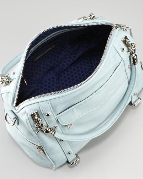 Cupid Satchel Bag, Baby Blue