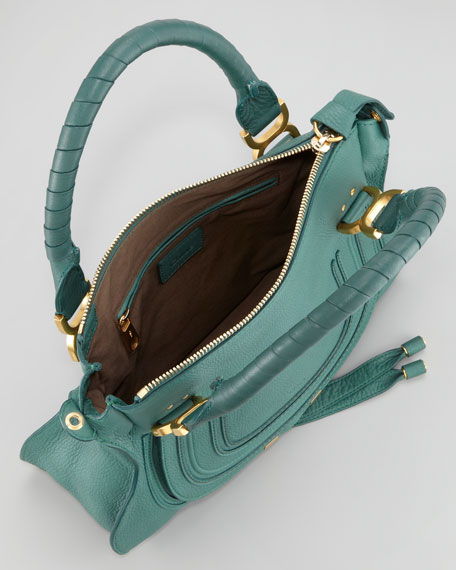 Marcie Small Satchel Bag, Jade