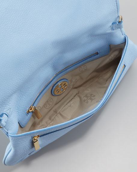 Amanda Logo Clutch Bag, Light Blue