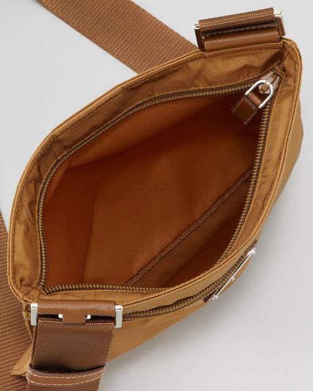 Vela Crossbody Messenger Bag, Medium Brown