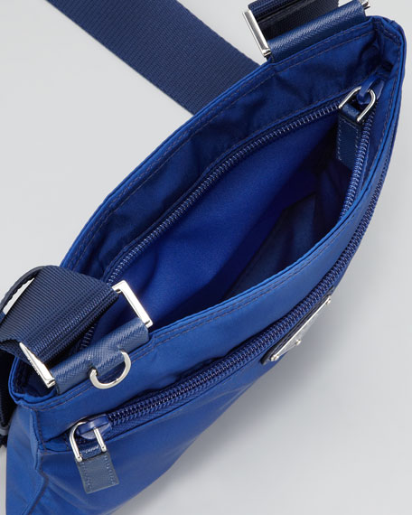 Vela Crossbody Messenger Bag, Royal Blue
