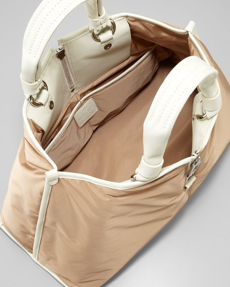 Amelie Nylon Tote Bag, Bronze