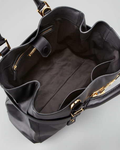 Hutton Medium Tote Bag, Black