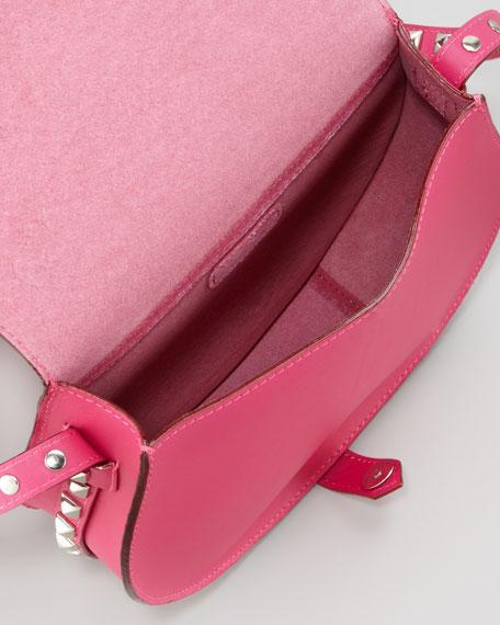 Skylar Studded Crossbody Bag, Poppy Pink