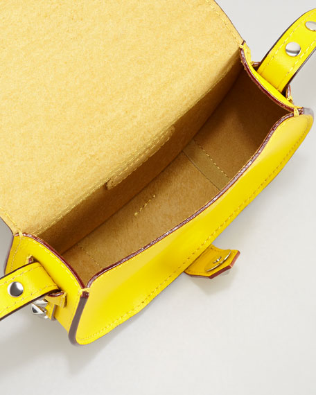 Skylar Studded Mini Messenger Bag, Sunny Yellow