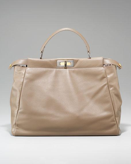 Peekaboo Leopard-Lined Handbag