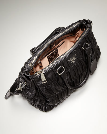Double Handle Leather Bag