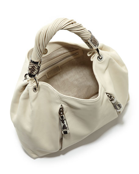 Cream Twisted Strap Hobo