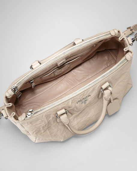Medium Double-Handle Zip Tote Bag
