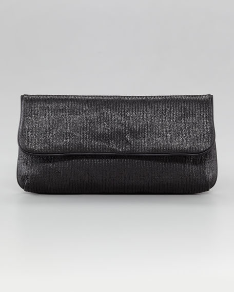Colleen Woven Raffia Clutch Bag