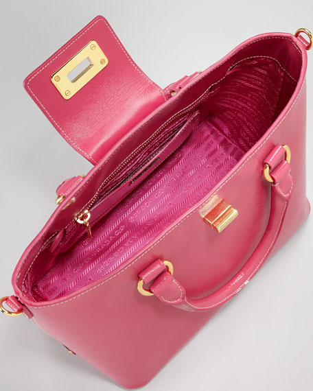 Saffiano Medium Turn-Lock Tote Bag