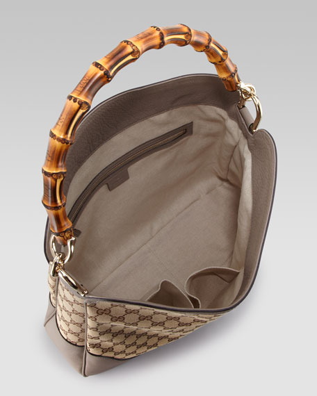 Diana GG Bamboo Hobo Bag, Gray