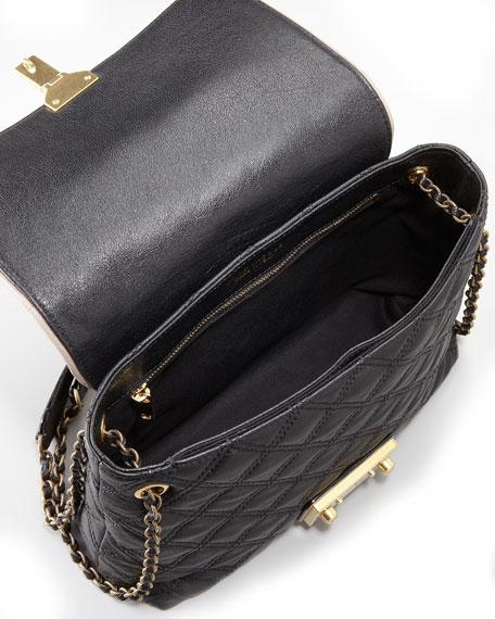 Quilted Single Shoulder Bag, Large