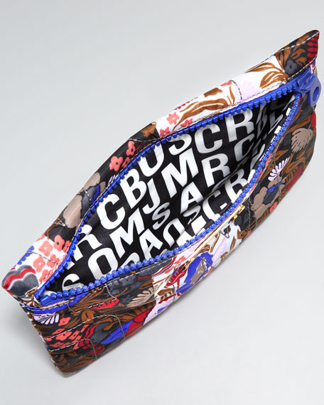 Wallpaper-Print Logo Pouch, Gray