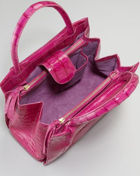 Crocodile Box Tote Bag, Small
